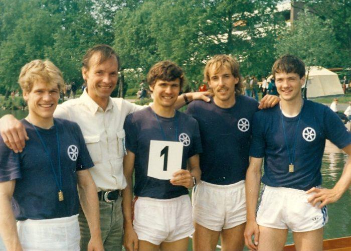 Deutscher Meister im Lgw. 4er 1984